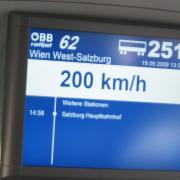 Австрия-2009. Скорость движения поезда