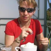Австрия-2009. Gmunden, Traunsee. Кофейня