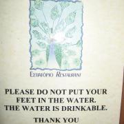 """""""Не суйте ноги в воду, она питьевая. Спасибо"""""""